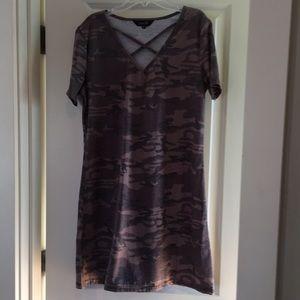 Camo T-shirt dress size medium